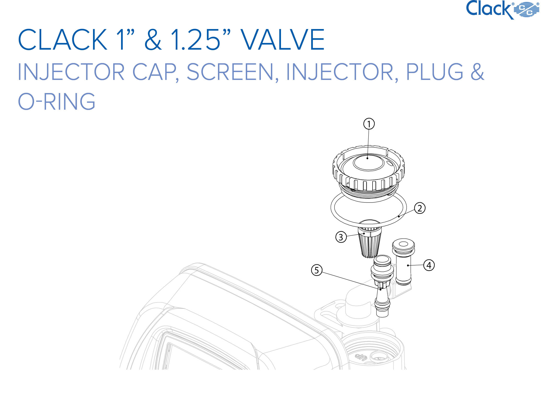*** NEW *** Clack Spare Parts - Injector Cap, Screen, Injector, Plug & O-Ring
